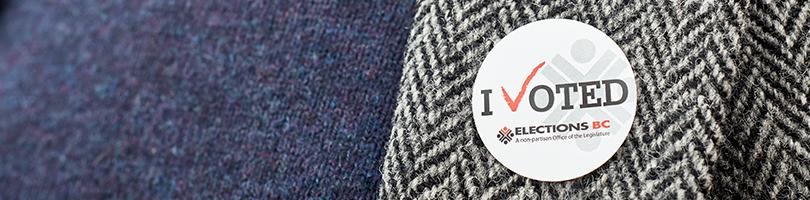 I voted sticker on jacket lapel