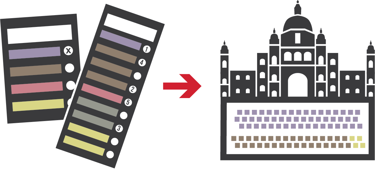 Voting system illustration